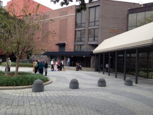 Patrons line up early outside of the Bob Carr Performing Arts Centre in downtown Orlando for the free concert performance of Handel's Messiah. (Photo by R.T. Robeson).