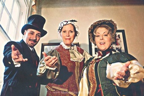 "John DiDonna, Robin Olson, and Monica Long Tamborello star in ""Dickens by Candlelight"""