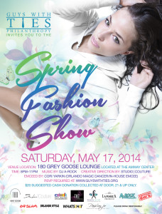 The Guys With Ties Spring Fashion Show and fundraiser is heading to the Amway Center on May 17.