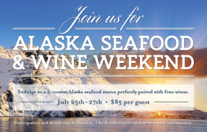 The Oceanaire restaurant on International Drive is hosting a special five course meal next weekend, made up of Alaskan delicacies.