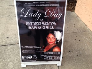 "Theatre Downtown is now producing ""Lady Day at Emerson's Bar & Grill."""