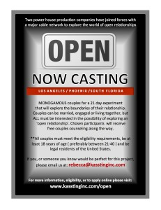 Kassting Inc. is looking for couples for a possible reality series.