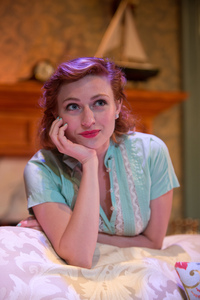 "Piper Rae Patterson stars as Tracy Lord in Mad Cow Theatre's revival of Phillip Barry's comedy of manners, ""The Philadelphia Story."""