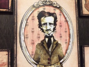 "Margie Forestier's artwork ""Edgar Allan Poe"" is now on display at the Orlando Fringe Festival."