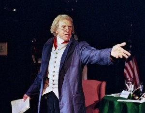 Actor/playwright J.D. Sutton will be playing Thomas Jefferson at the Orlando Fringe.