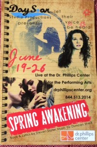 "The musical ""Spring Awakening"" is now being performed at the Dr. Phillips Center for the Performing Arts."