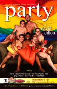 "Tonight marks the final performance of David Dillon's very funny play ""Party"" at the Footlight Theatre."
