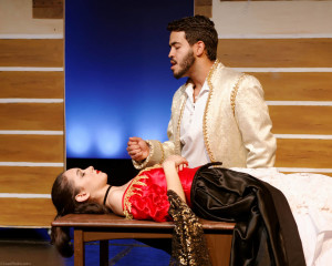 "Fabiola Rivera and Jonatan Rodriguez perform in ""Grimmly Ever After,"" which opens tonight."