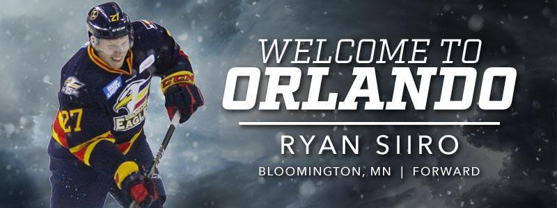 Welcome Ryan Siiro