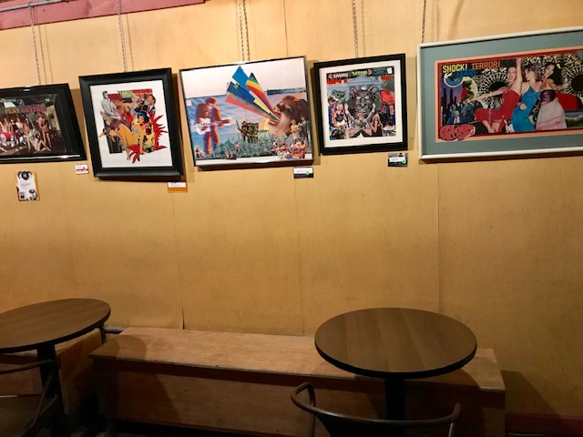 Jeffrey Howard art display at Lil Indie's