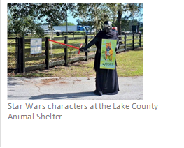 Star Wars theme at Lake County Animal Shelter