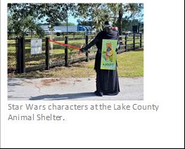 Star Wars theme at Lake County Animal Shelter