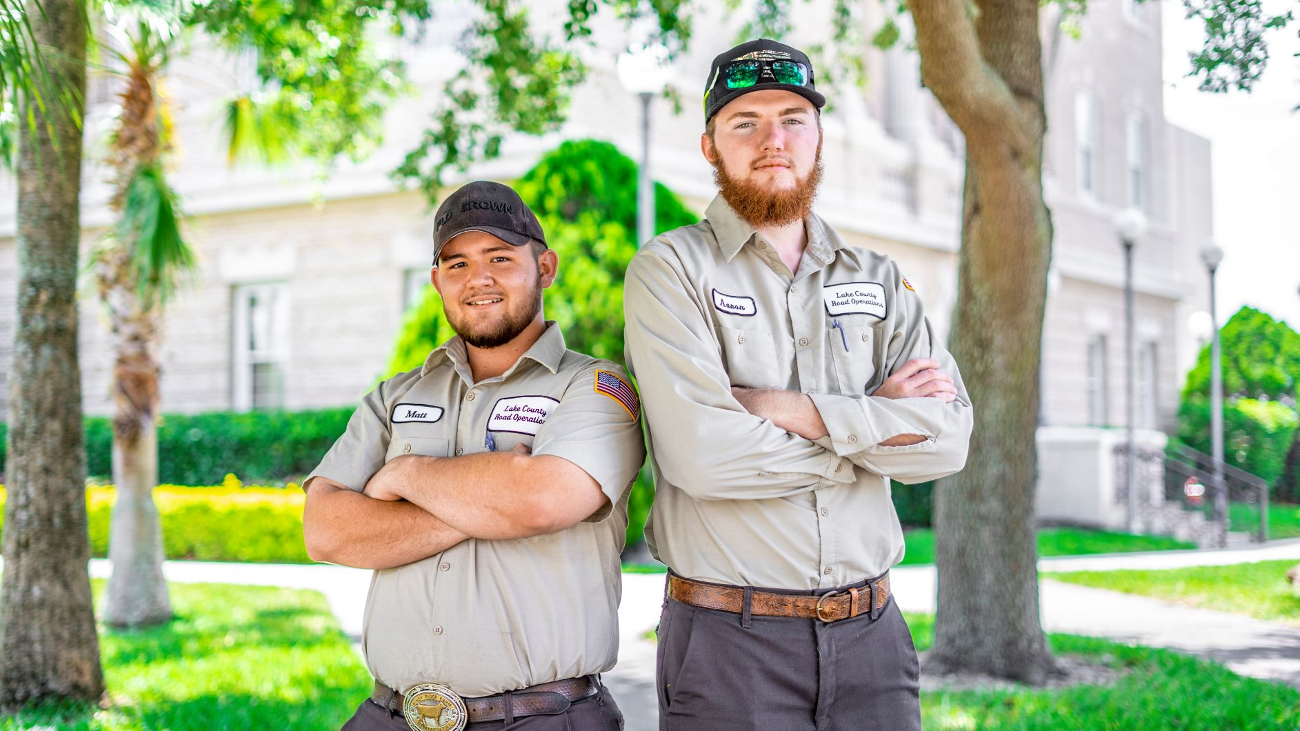 Lake County Road maintenance crew