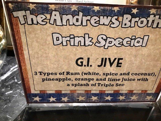 G.I. Jive rum drink