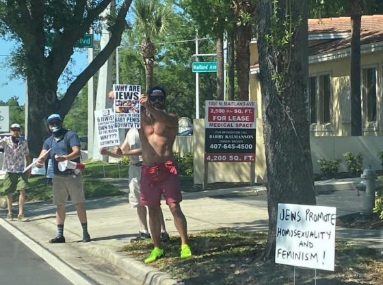 Antisemitic protests at the Holocaust Center